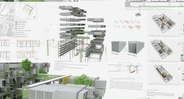 construction graphics print, architecture graphics print